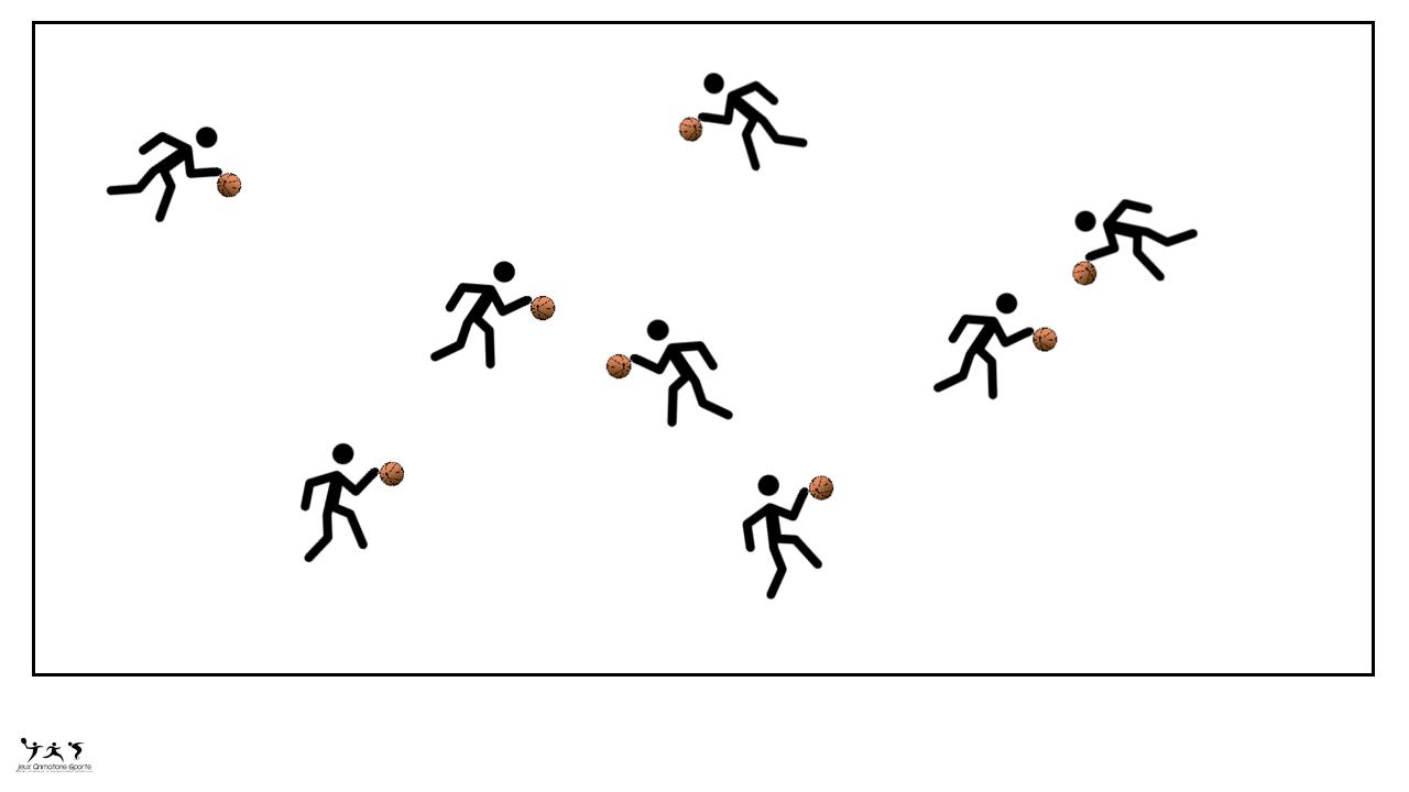 Chasse ballon, dribble basket