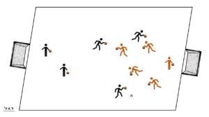 Match Foot-basket, travail dribble basket